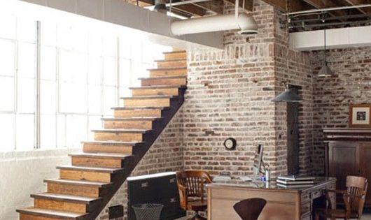 59 interiores cool con paredes de ladrillo visto - Escaleras de ladrillo ...