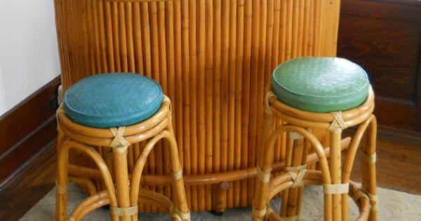 Vintage Polynesian Tiki Bar Mid Century Dry Bar Plywood