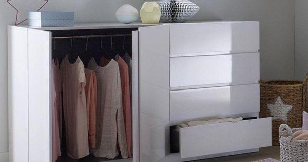 armoire sp cial soupente 2 portes penderie 4 tiroirs l o la redoute interieurs maison. Black Bedroom Furniture Sets. Home Design Ideas