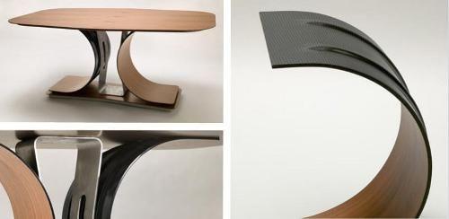 Carbon Fiber Table Interer Stol