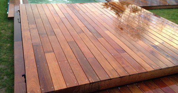 cr ation couverture de piscine amovible transformable en terrasse avec fermeture clef. Black Bedroom Furniture Sets. Home Design Ideas