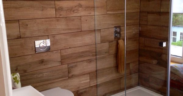 Our bathroom at home wood effect porcelain tiles for Bathroom cabinets victoria plumb