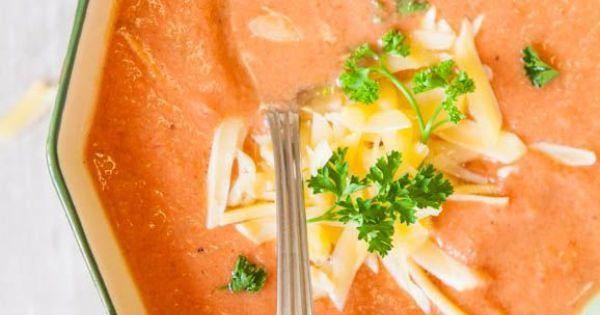 Creamy Tomato Soup (vegan, gluten-free, microwave-friendly)   Recipe ...