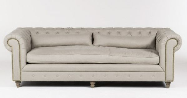 Tufted sofa natural linen hd buttercup online no for In bed with hd buttercup