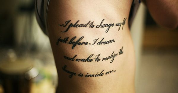 i like the quote, would never get a tattoo though .. I