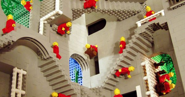 "Lego Escher ""Relativity"""