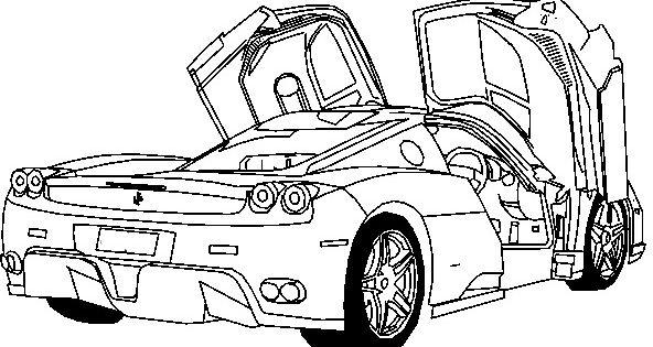 Deluxe Ferrari Sport Car Coloring Page - Ferrari car ...