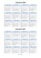 Calendrier 2019 Et 2021 Excel Avec Vacances Scolaires Calendrier 2020 2021 à imprimer gratuit en PDF et Excel