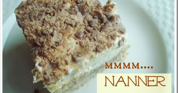 Awesome {BANANA BARS} with creamy fluffy pudding frosting