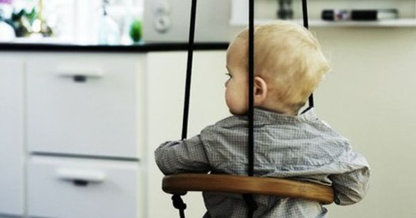 Adorable wooden swing. Would love to hang one of these in our