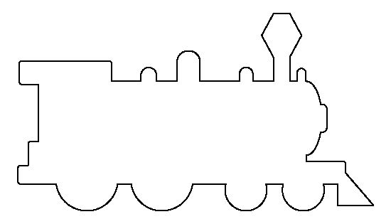 Train Pattern. Use The Printable Outline For Crafts