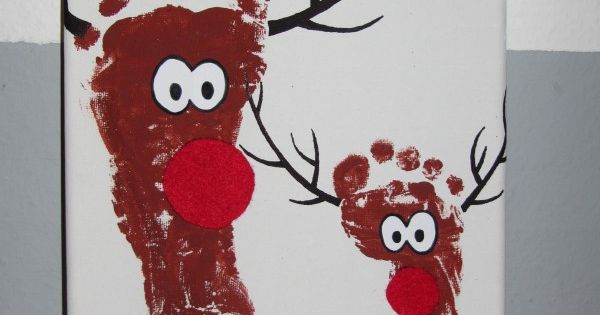 rentiere weihnachtskarten basteln and rentier fu abdruck. Black Bedroom Furniture Sets. Home Design Ideas
