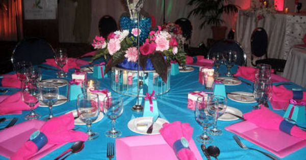 Candy Table Decoration Turquoise