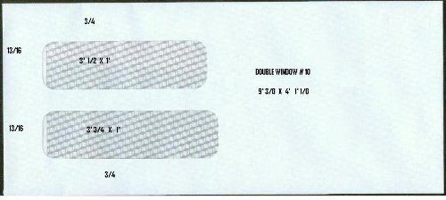 5 X 500 10 Double Window Envelopes Regular Gummed White Security Envelopes 4 1 8 X 9 1 2 Check More Security Envelopes Envelope Stamp Window Envelopes