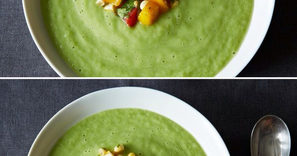 Chilled Cucumber and Avocado Soup with Mango Salsa ...