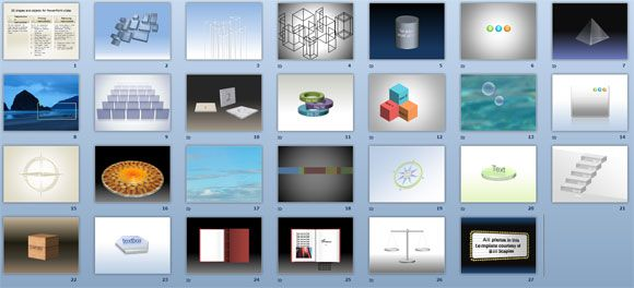 free ppt shapes and graphics in 3d and 2d
