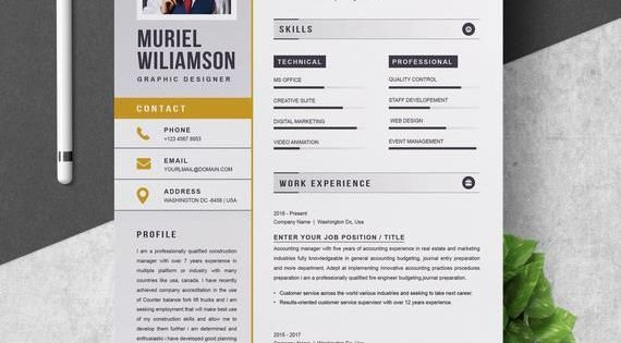 Resume Template Instant Download For Word Download Instant Resume Template Word