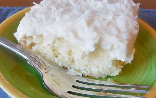 Easy Sour Cream Coconut Cake