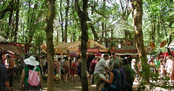 Hippie marketplace in Eugene, Oregon.