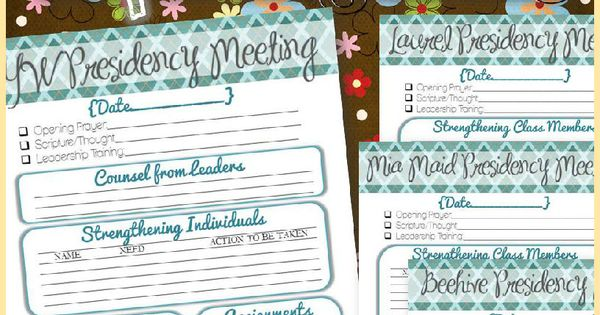 managing all the responsibilities and tasks in the LDS Young Women ...