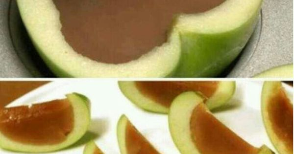 Carmel apple slices (image only). Directions: Do u love caramel apples but