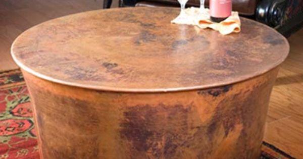 Jatex Copper 36 Quot X 18 Quot Round Drum Coffee Table 22314