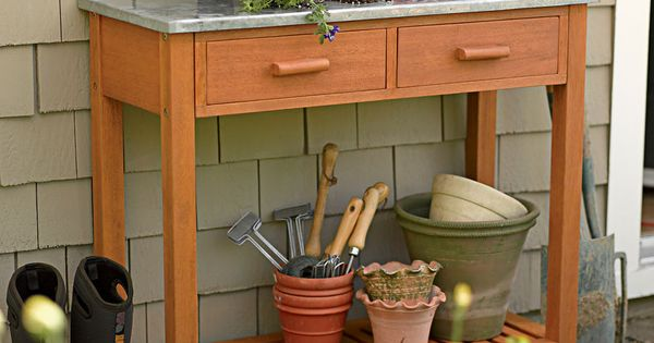Potting bench buy from gardener 39 s supply my green thumb pinterest benches and potting for Gardeners supply burlington vt