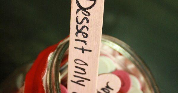 Date night jar - write date ideas on popsicle sticks. Draw one