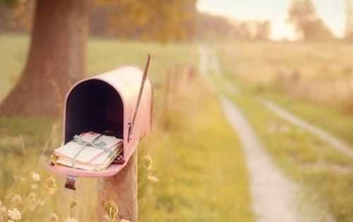 Old fashion snail mail delivered down old dirt road....But then the road