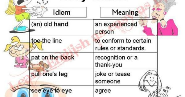 thesis on english idioms