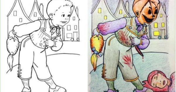 Creepy Cringeworthy Coloring Book Corruptions