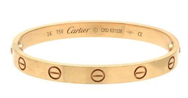 Cartier Love Bracelet 18k Gold Crd631538 Inneromkrets 16 Cm Weight 31 3 G Screwdriver Original Box Case An Love Bracelets Cartier Love Bracelet Cartier