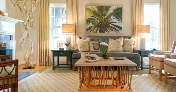 Beach Style Living Room By Charmean Neithart Interiors LLC Living