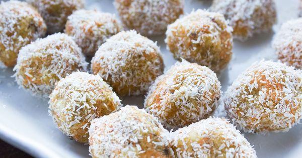 Carrot Honey Balls | Recipe | Raw Balls, Coconut Balls and Coconut