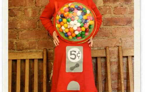 gumball machine homemade costume.