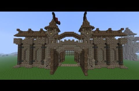 Minecraft Medieval Wall Tutorial How To Build A Wall