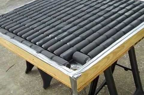 Diy solar heater build perfect for heating a greenhouse for Tin can solar heater