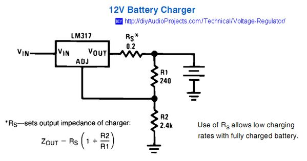 Li Ion Battery Charger Circuit Lm317 Lithium Ion Lithium
