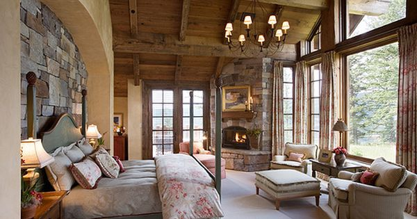 Master bedroom for the mountain home