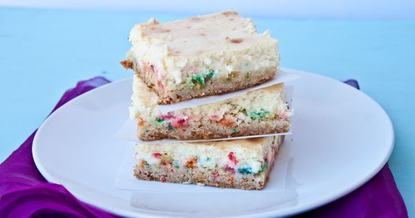 Funfetti Cheesecake Bar Recipe.