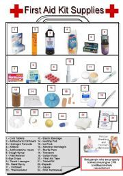 Worksheets And Activities For Teaching First Aid To English Language Learners First Aid For Kids Worksheets For Kids First Aid Kit First aid and cpr worksheet answers