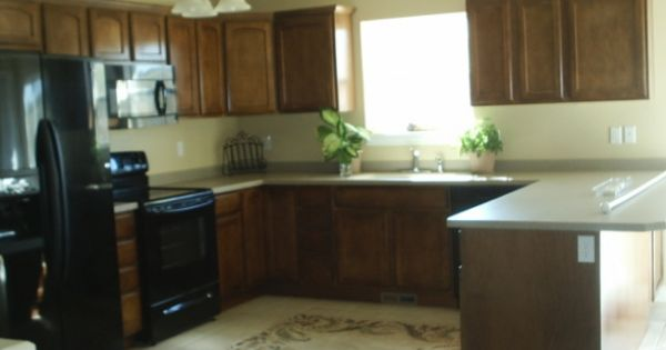 Love The Cabinets And Floor Tile Color Kitchen Pinterest The