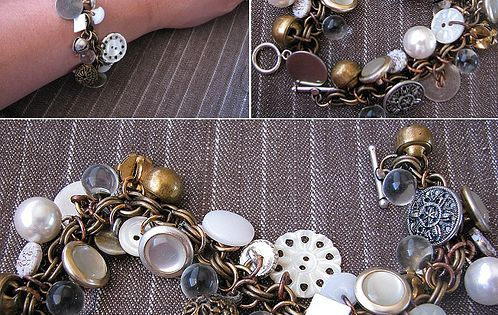 DIY bracelet - A twist on a charm bracelet...