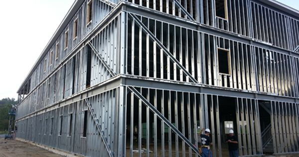 Metal Stud Framing Commercial Contractor Lowell Ma Steel Frame Construction Steel Trusses Framing Construction