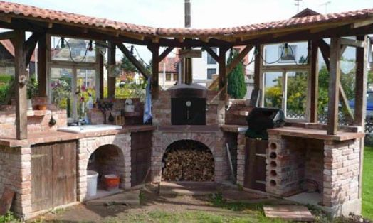 Dach Outdoor-Küche | Pizzaofen garten, Garten küche und Garten