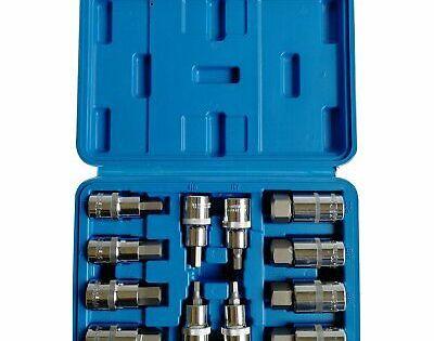 Ebay Advertisement 12pcs 1 2 Drive Square Allen Hex Impact Sockets Bits Set 62mm H5 H22 Us In 2020 Metric Socket Set Socket Set