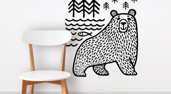 Bear Wall decal - wall sticker - wild - animal