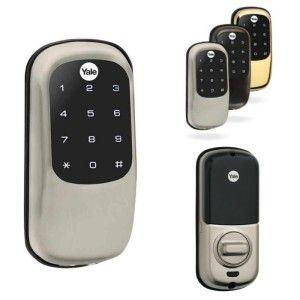 Keyless Door Lock Review Yale Keyless Door Lock 2 4 Keyless Door Lock Smart Door Locks Wireless Door Lock
