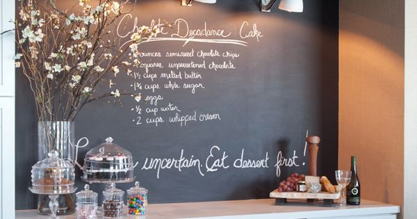 Urban Electric Sconces... Chalkboard Paint... Love. great idea for basement bar area