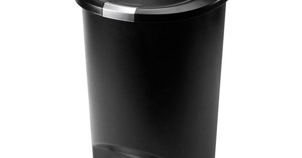 Kitchen Trash Bin Target: Simplehuman 50-Liter Semi-Round Black Plastic Step-On